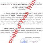 Certificat d'aptitude MNS