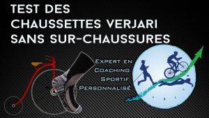 Test vélo sans sur-chaussures des chaussettes Verjari