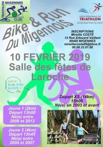 Flyer du Run and Bike de Migennes