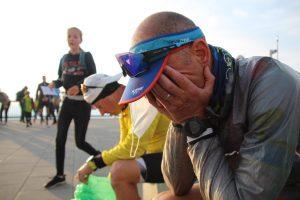 Je ne peux m'exprimer qu'en silence après la finish line