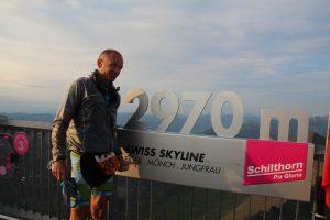 Chilthorn point culminant de l'Inferno Triathlon